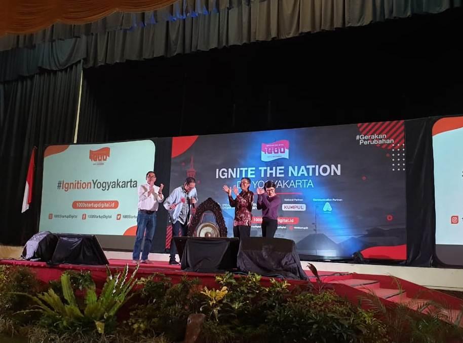 Dirjen Aptika Semuel A Pangerapan saat membuka Ignite The Nation Yogyakarta