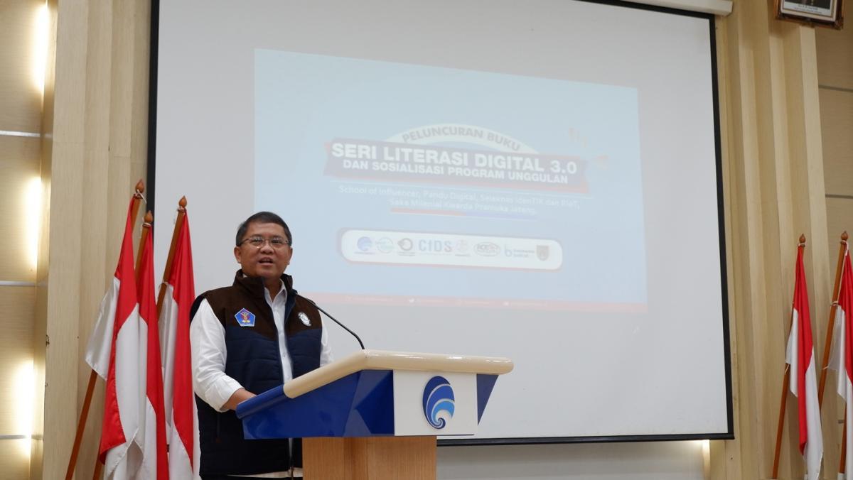 Menteri Kominfo Rudiantara saat memberikan arahan dalam acara Peluncuran Buku Literasi Seri 3.0 di Gedung Kominfo (3)