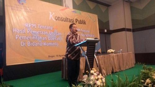 Konsultasi Publik RPM Tentang Daerah di Bidang Kominfo di Bogor, 18 Agustus 2016