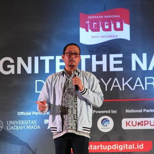 Dirjen Aptika Semuel A Pangerapan memberi paparan di Ignite The Nation Yogyakarta