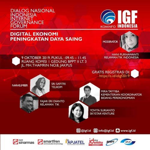 Forum Digital Ekonomi Penignkatan Daya Saing