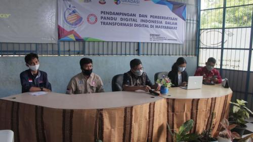 Para pemberi materi workshop pemberdayaan Pandu Digital (22/04).