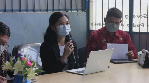 Sub Koordinator Pandu Digital saat memberikan sambutan (22/04).
