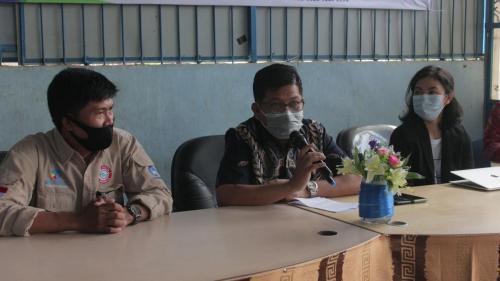 Kepala Dinas Komunikasi Informatika Statistik dan Persandian Provinsi Sulawesi Selatan saat memberikan sambutan (22/04).