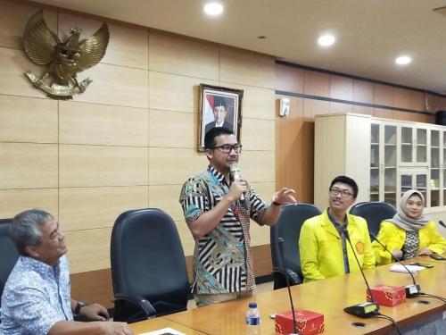 Kasubdit PDP, Hendri Sasmitha, memberikan materi seputar regulasi RUU PDP