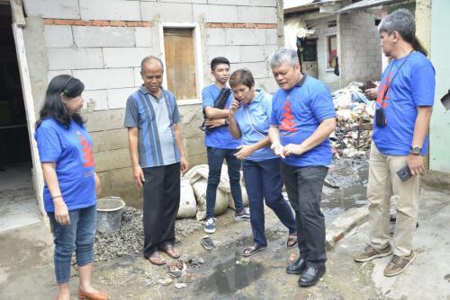 Komunitas Kompaq Kominfo Melihat Langsung Dampak Banjir