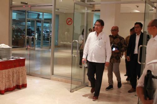 Menteri Kominfo Rudiantara tiba di Museum Nasional