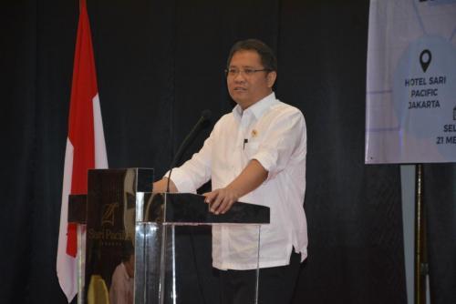 Menteri Kominfo memberikan sambutan saat acara workshop Menumbuhkan Kesadaran Perlindungan Data Pribadi  Kebutuhan dan Tantangan (2)