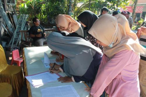 Para peserta yang berasal dari pelajar dan mahasiswa dari Kabupaten Banyumas