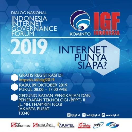 Detail Forum yang ada di ID-IGF 2019