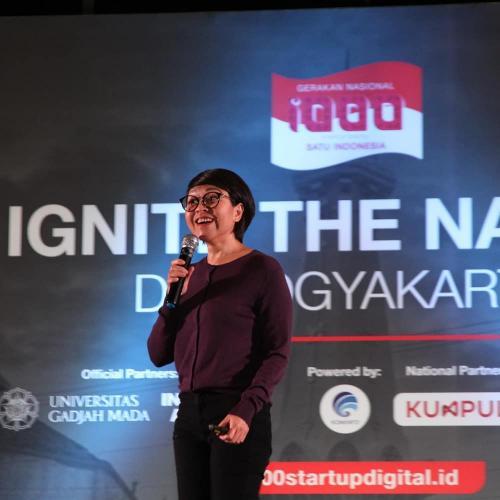 Staf Khusus Kominfo Lis Sutjiati memberi paparan di Ignite The Nation Yogyakarta