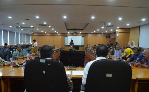 Suasana pertemuan penandatanganan mengenai Sinergi Penataan Media Siber Dalam Rangka Penegakan Kemerdekaan Pers.